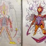 Thomas Romain transforma en anime los dibujos de sus hijos